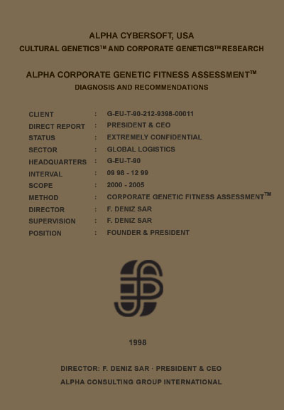 Deniz Sar - Deniz Şar - Corporate Genetic Fitness Assessment (TM)